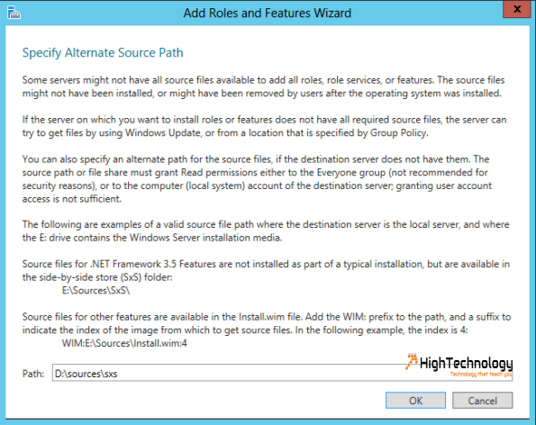 Cannot install .NET Framework 3.5 features on Windows Server 2012